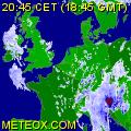 Radar des pluies de la france et l'europe.
